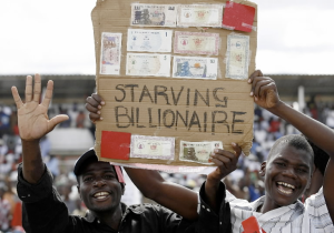 Irony of Poverty: Zimbabwe was the breadbasket of Africa but poor economic decisions and lack of infrastructure led to runaway inflation.